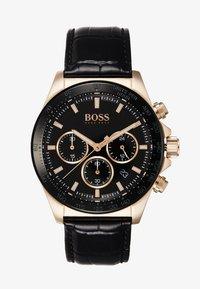 BOSS - Montre à aiguilles - black/rose gold-coloured - 1