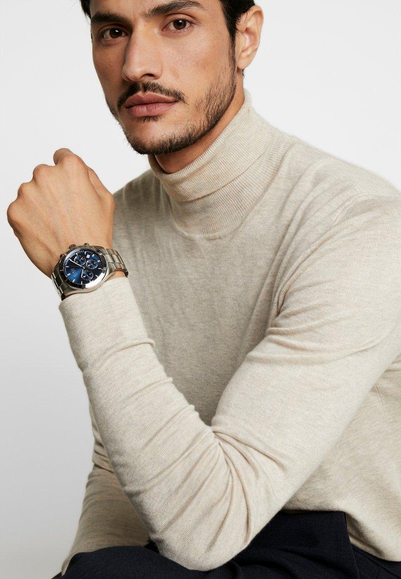 BOSS - Chronograph watch - silver-coloured/metallic blue