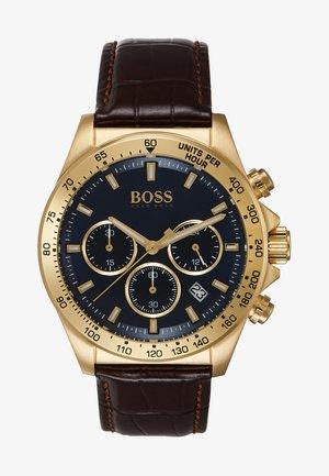 Zegarek chronograficzny - brown/gold-coloured