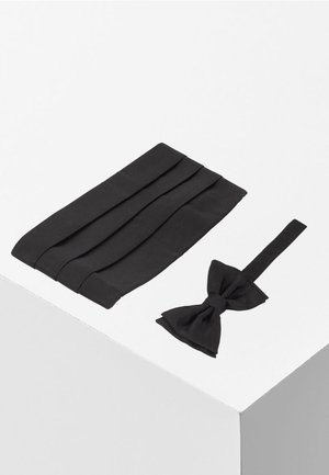 SET BOW TIE - Fliege - black