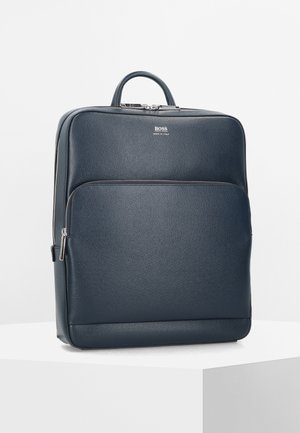 SIGNATURE BUSINESSRUCKSACK LEDER 38 CM LAPTOPFACH - Tagesrucksack - dark blue