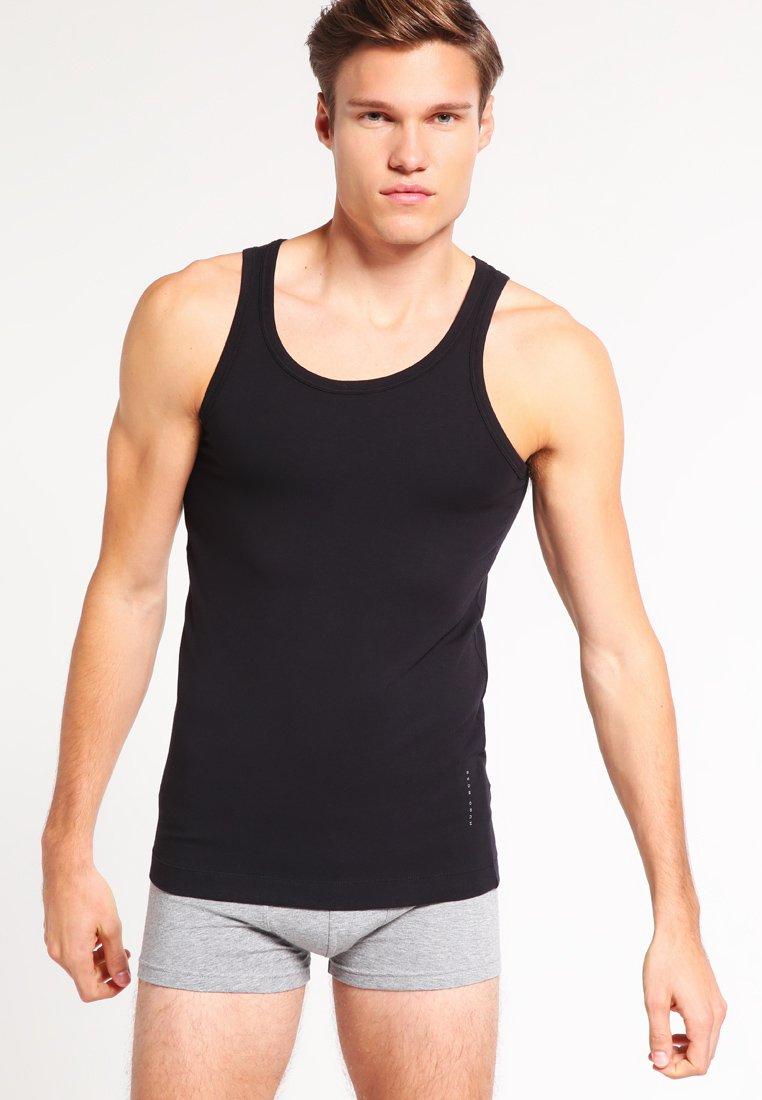 BOSS - SLIM FIT - Unterhemd/-shirt - black