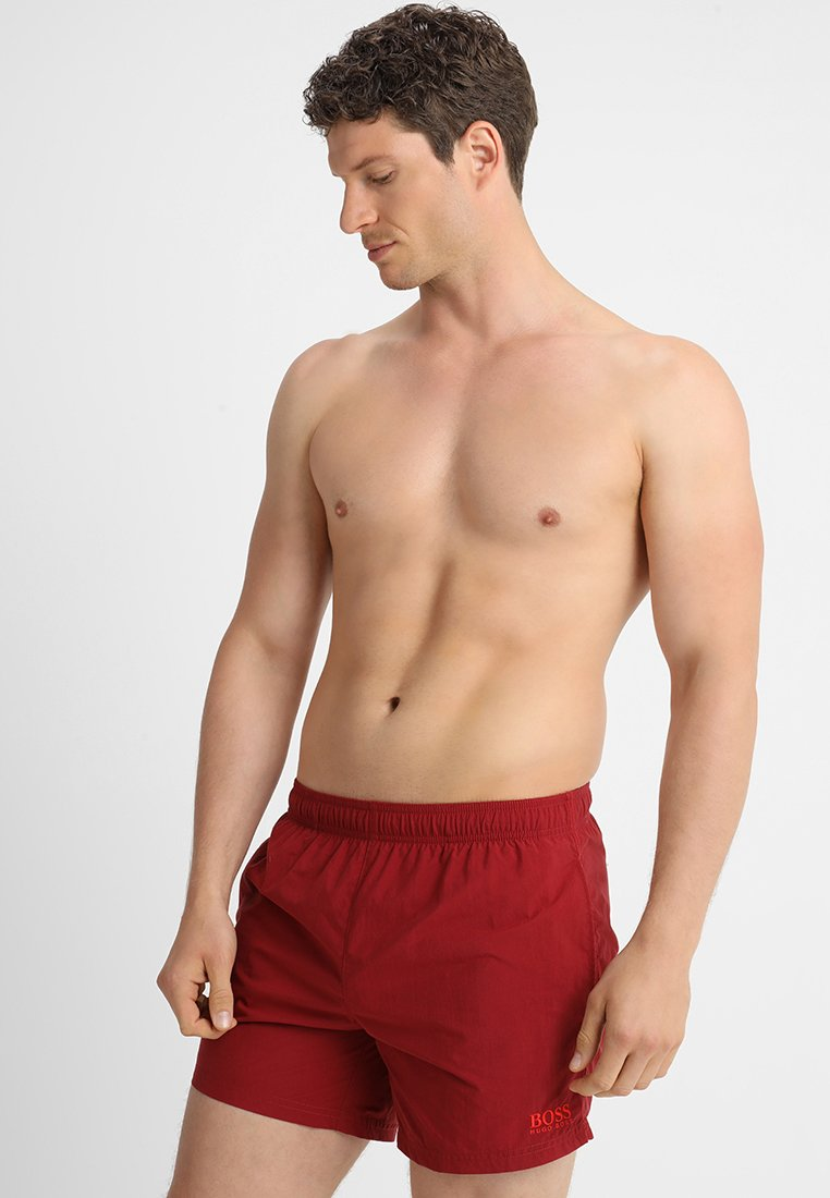 BOSS - PERCH - Swimming shorts - dark red
