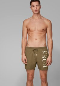 BOSS - OCTOPUS - Swimming shorts - dark brown - 0