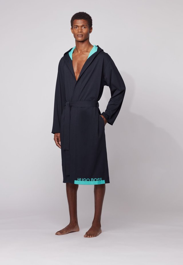 Dressing gown - open blue