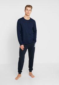 BOSS - AUTHENTIC PANTS - Pyjamasbyxor - dark blue - 1