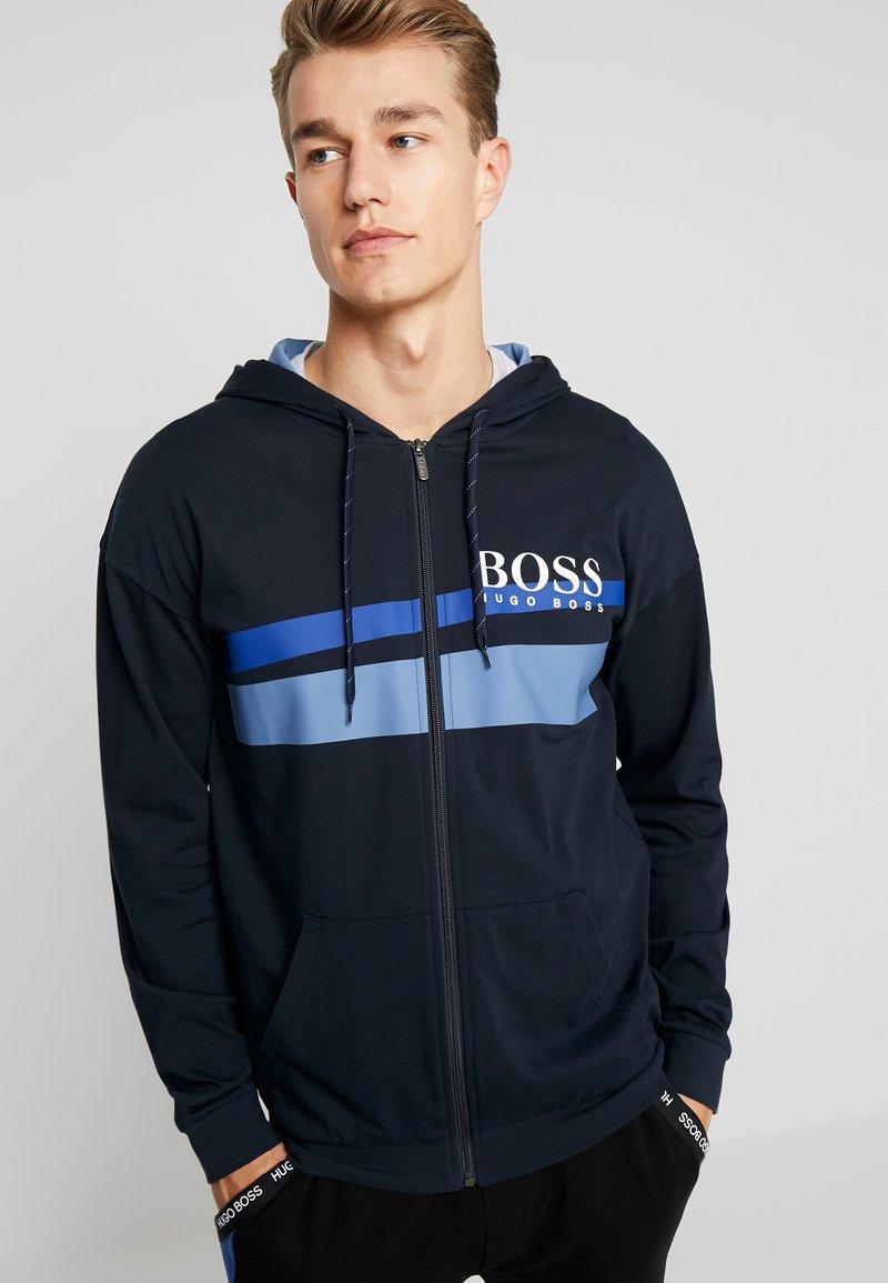 BOSS - AUTHENTIC JACKET  - Huvtröja med dragkedja - dark blue