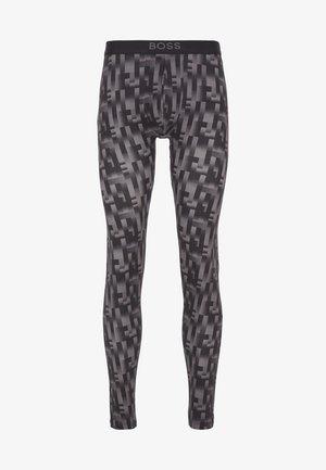 LONG JOHN REFINED - Pyjama bottoms - black