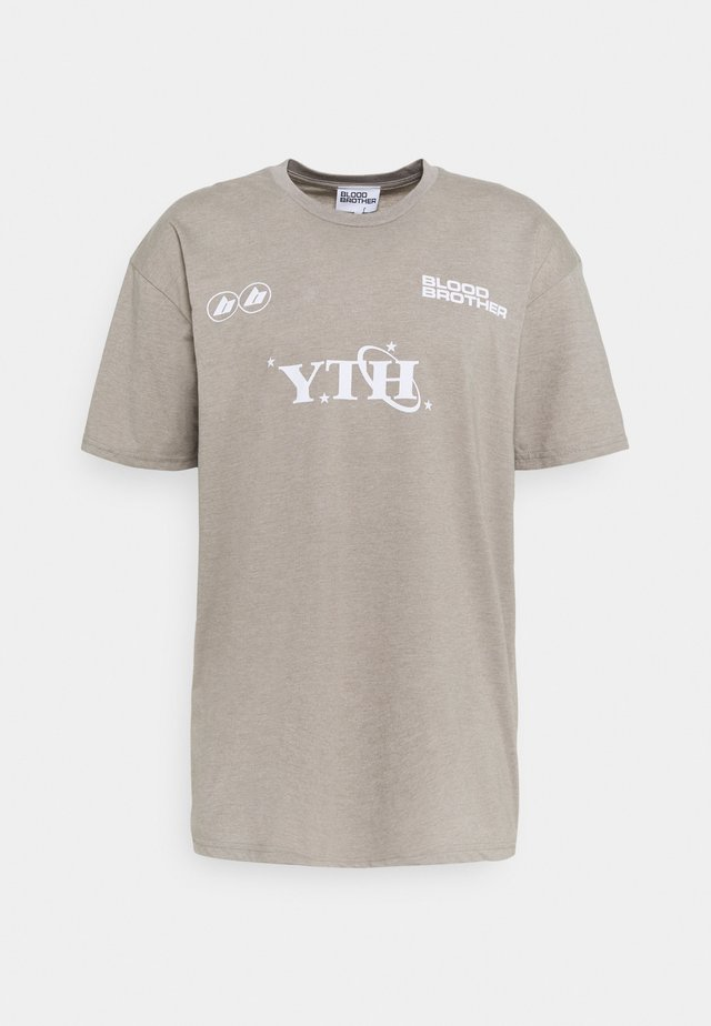 GRAFTON TEE UNISEX - T-shirt imprimé - beige