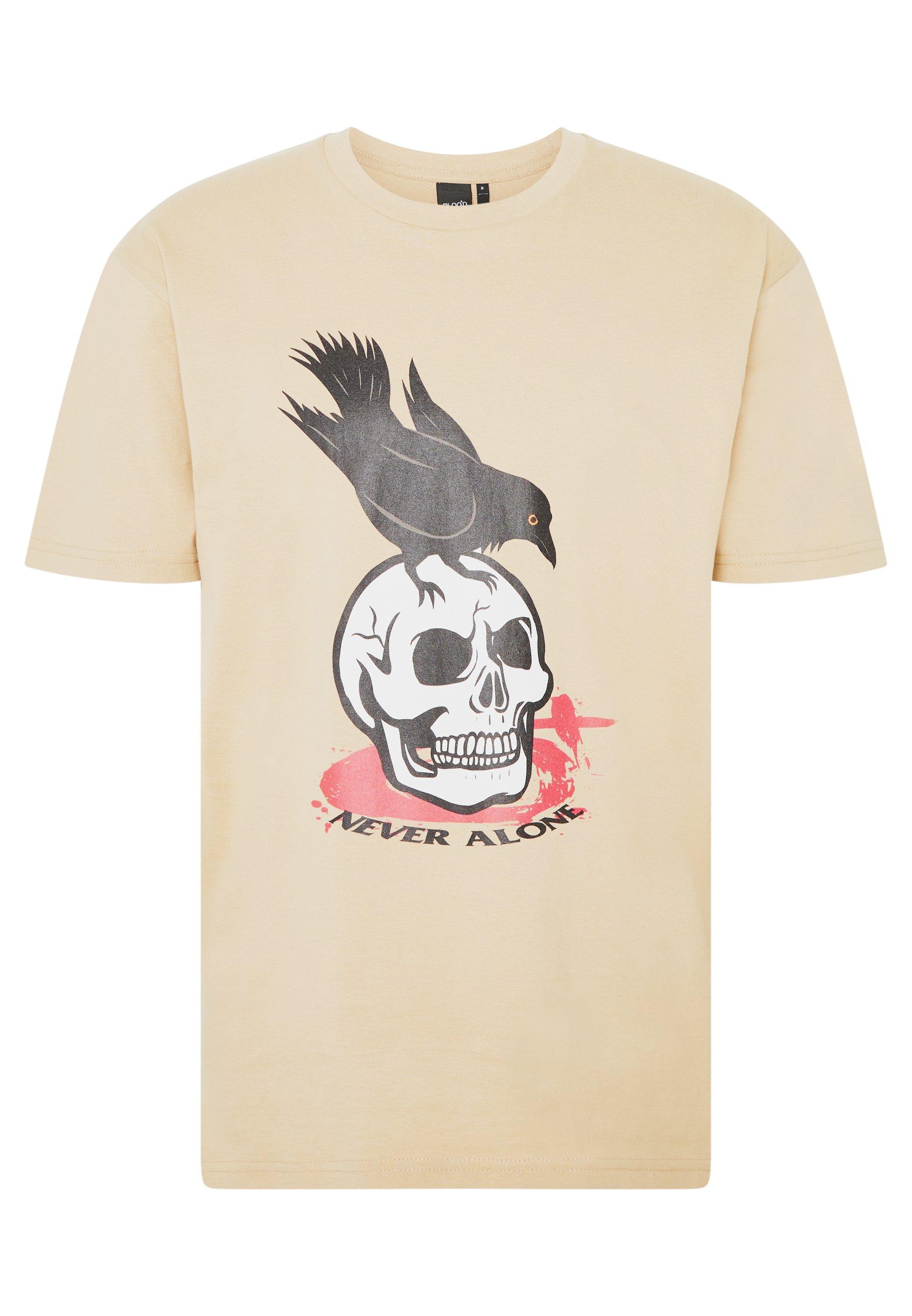 Blood Brother Print T-shirt - tan
