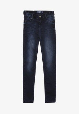 GIRLS HIGH WAIST - Skinny-Farkut - darkblue soft used