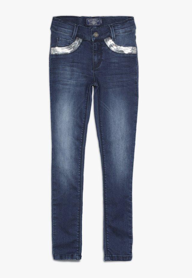 GIRLS MIT PAILLETTEN - Jeans Skinny Fit - medium blue