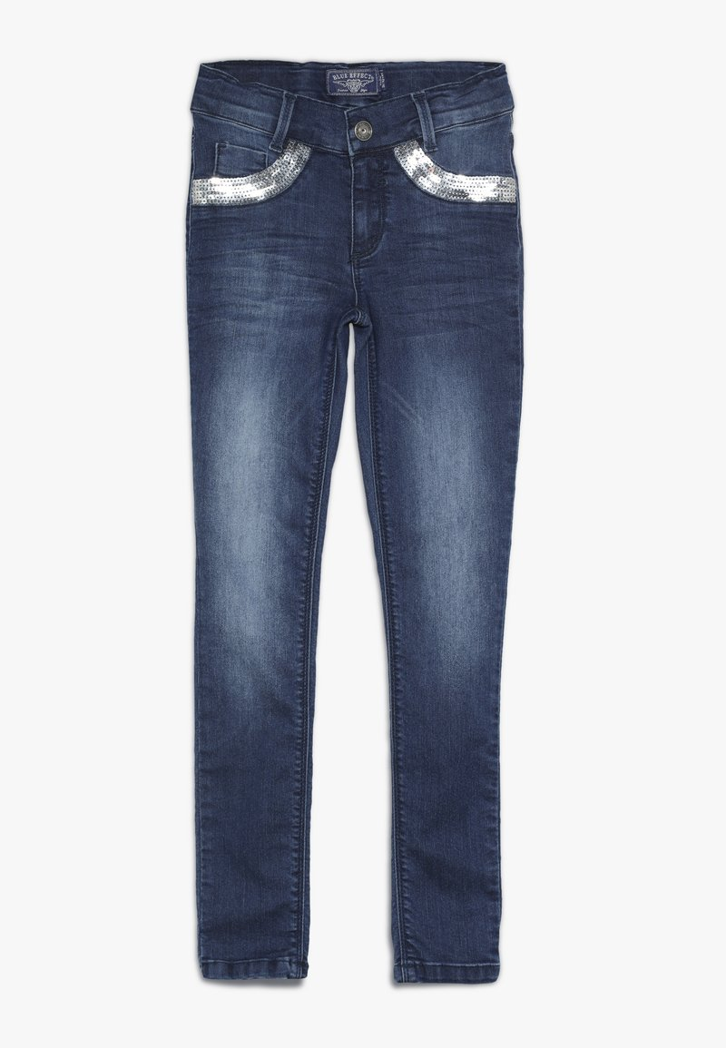 Blue Effect - GIRLS MIT PAILLETTEN - Jeans Skinny Fit - medium blue