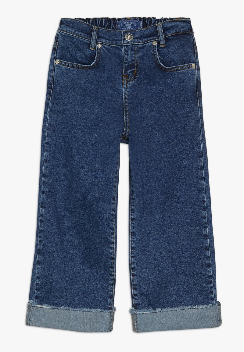 Blue Effect - GIRLS PALAZZO CROPPED - Relaxed fit jeans - blue denim