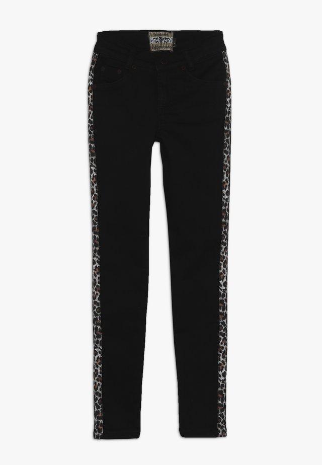 GIRLS STREIFEN - Jeans Skinny Fit - black