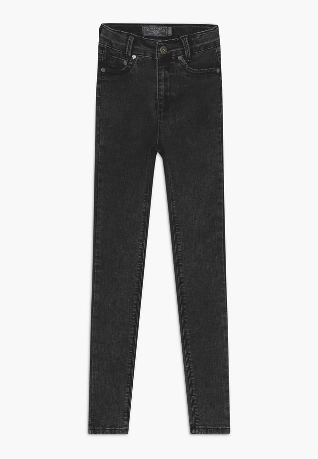 GIRLS HIGH-WAIST - Jeansy Skinny Fit - moon black