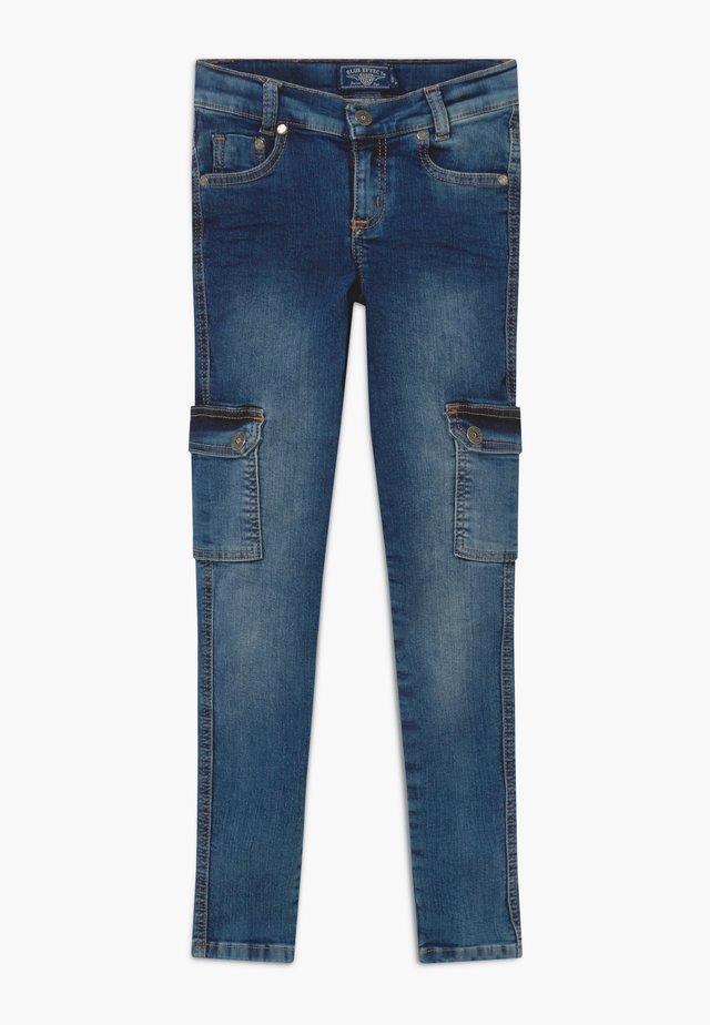 GIRLS CARGO - Jeansy Skinny Fit - medium blue