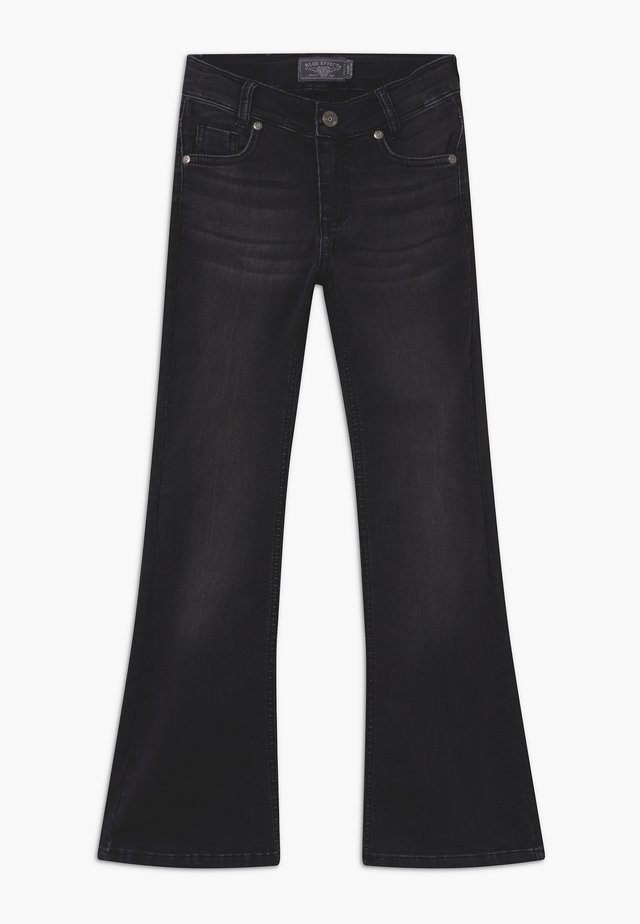 GIRLS FLARED - Jeansy Bootcut - black denim