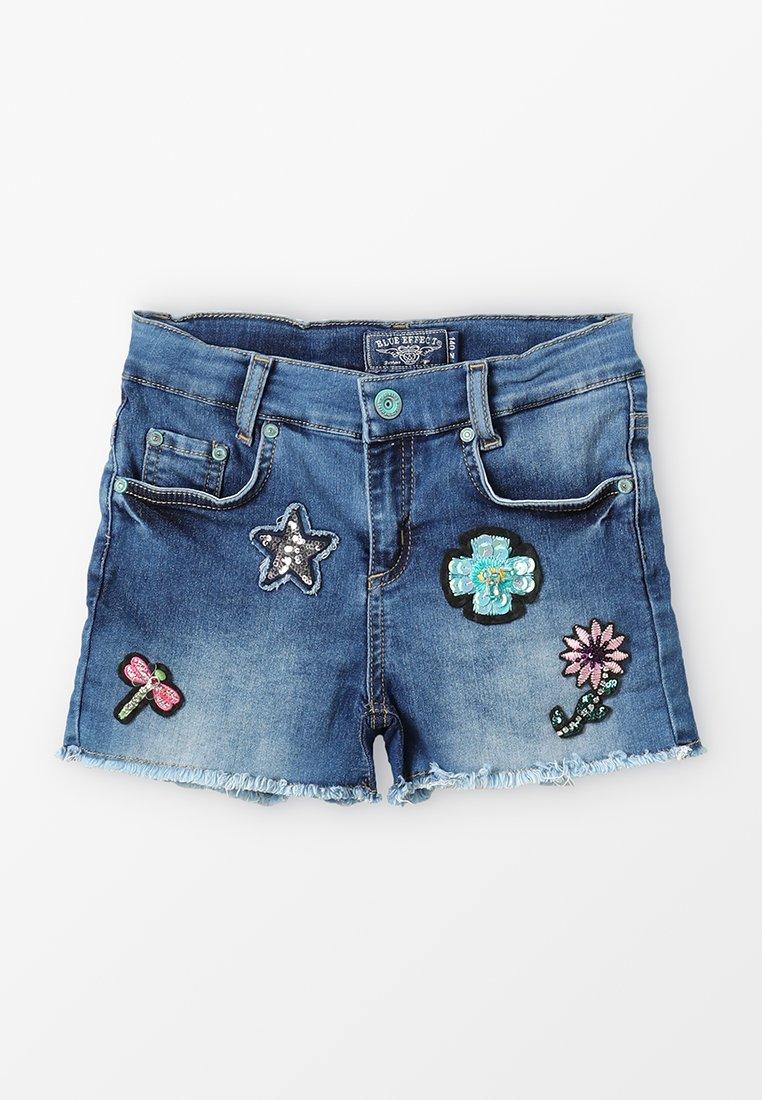 Blue Effect - GIRLS SHORT ARTWORKS - Jeans Short / cowboy shorts - blue medium