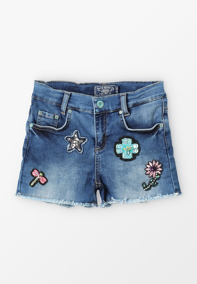Blue Effect - GIRLS SHORT ARTWORKS - Jeans Shorts - blue medium