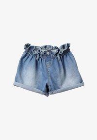 Blue Effect - GIRLS MOM MIT RAFFBUND - Shorts vaqueros - blue denim - 2