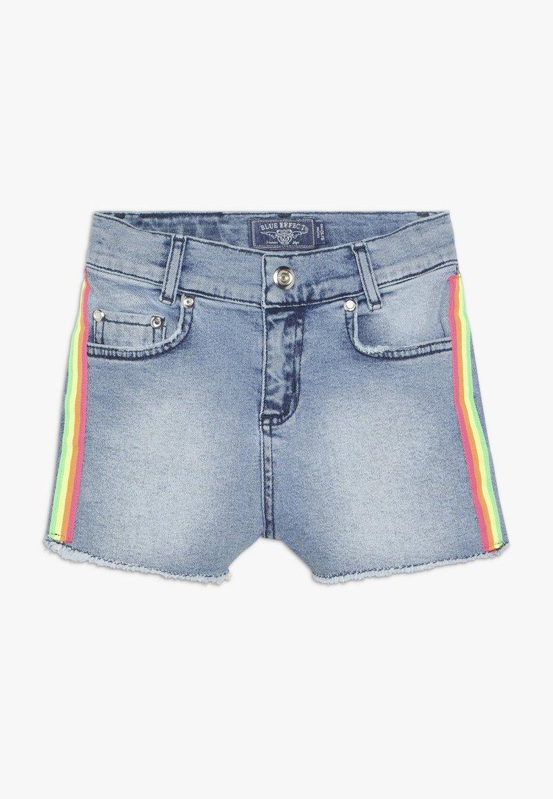 Blue Effect - GIRLS HIGH WAIST STREIFEN - Denim shorts - light blue