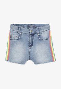Blue Effect - GIRLS HIGH WAIST STREIFEN - Denim shorts - light blue - 3