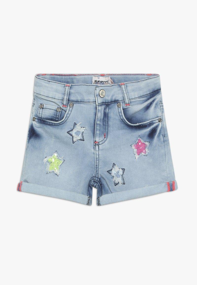 Blue Effect - GIRLS PAILLETTEN STERNE - Shorts di jeans - light blue