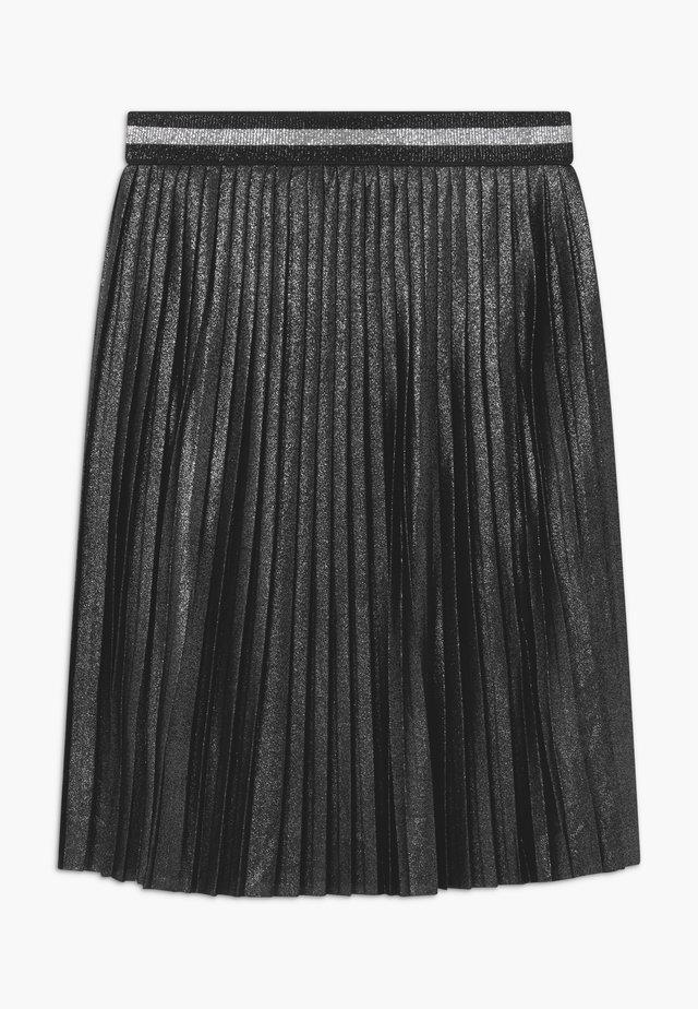 GIRLS PLISEE - A-line skirt - schwarz