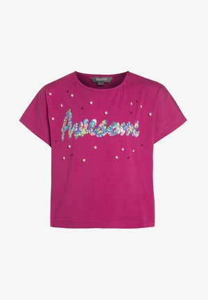 GIRLS BOXY - Print T-shirt - rose