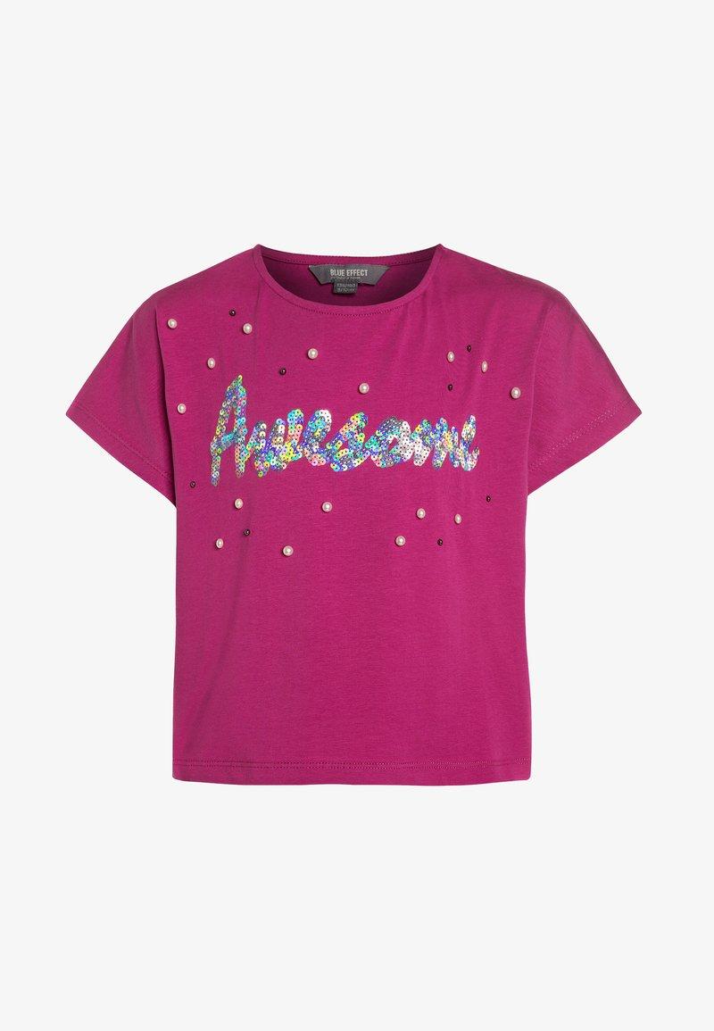 Blue Effect - GIRLS BOXY - T-shirts print - rose
