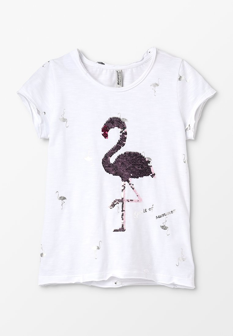 Blue Effect - GIRLS FLAMINGO - T-Shirt print - weiß