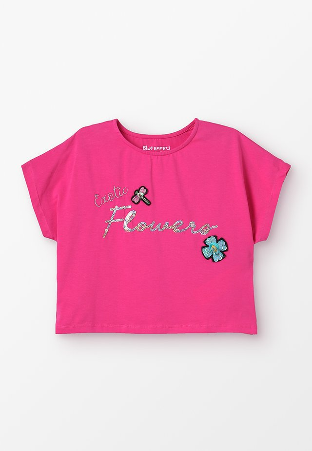 GIRLS BOXY EXOTIC FLOWERS - T-Shirt print - pink reactive