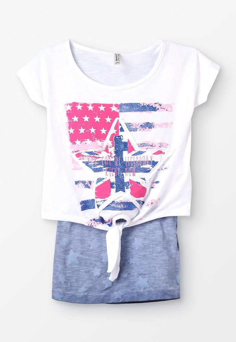 Blue Effect - GIRLS FLAGG SET - T-Shirt print - weiß