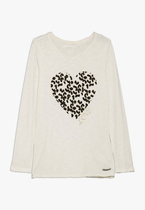 GIRLS LONGSLEEVE LEO-HERZ - T-shirt à manches longues - creme oil