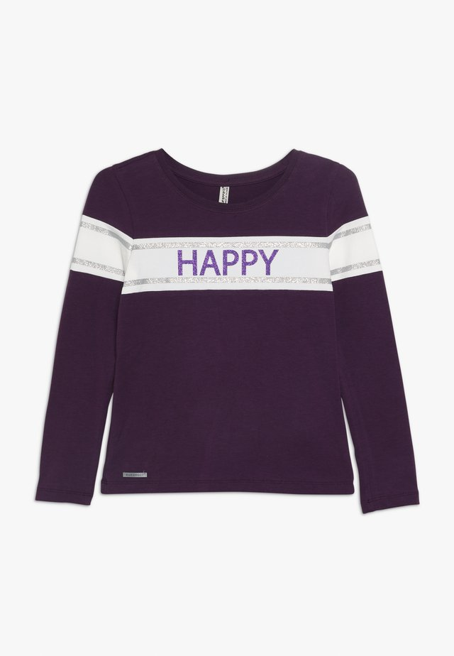 GIRLS LONGSLEEVE HAPPY - Langærmede T-shirts - dunkel lila reactive
