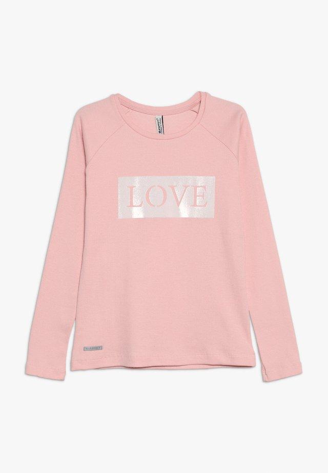 GIRLS RINGEL LONGSLEEVE LOVE - Pitkähihainen paita - winterrose