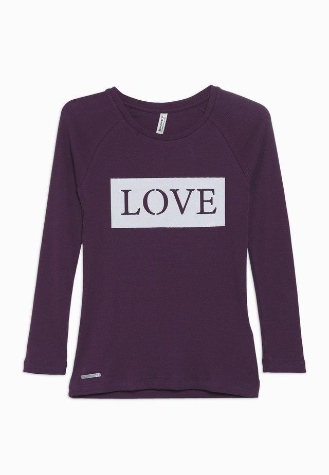 GIRLS RINGEL LONGSLEEVE LOVE - Pitkähihainen paita - dunkel lila