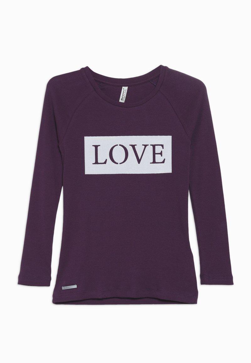 Blue Effect - GIRLS RINGEL LONGSLEEVE LOVE - Top sdlouhým rukávem - dunkel lila