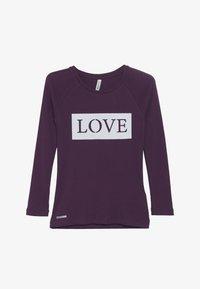 Blue Effect - GIRLS RINGEL LONGSLEEVE LOVE - Top sdlouhým rukávem - dunkel lila - 2