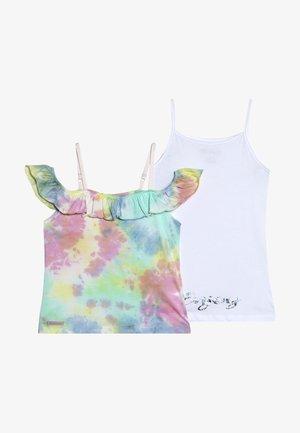 GIRLS DOPPEL ENJOY SET - T-shirts print - pastel batik