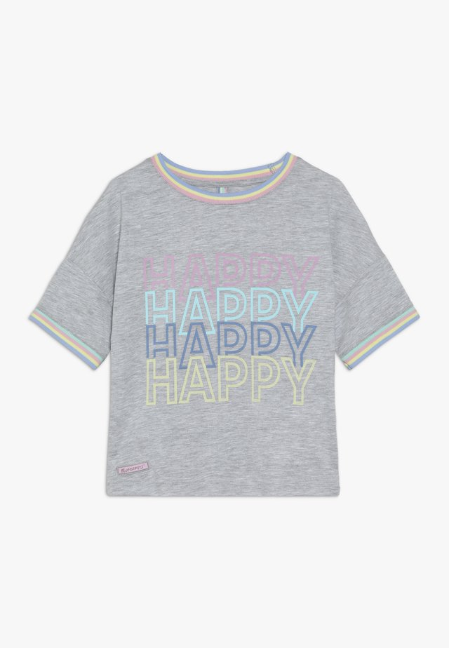 HAPPY - T-shirt print - hellgrau