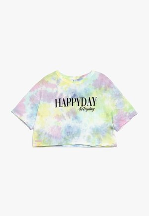 GIRLS BOXY HAPPYDAY - Print T-shirt - pastel