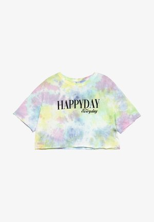 GIRLS BOXY HAPPYDAY - T-Shirt print - pastel