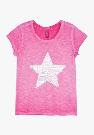 GIRLS PAILLETTEN STERN - T-shirt imprimé - pink