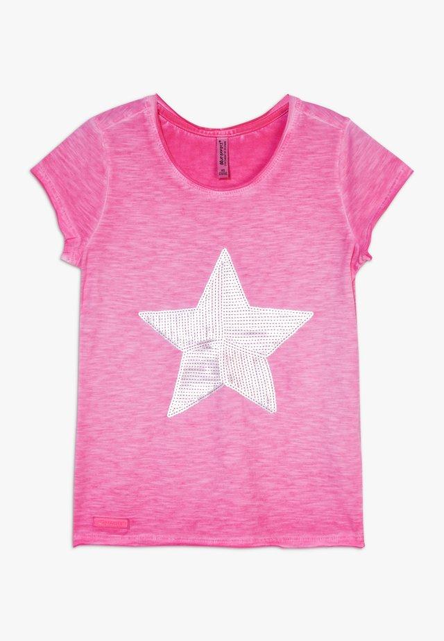 GIRLS PAILLETTEN STERN - T-shirt print - pink