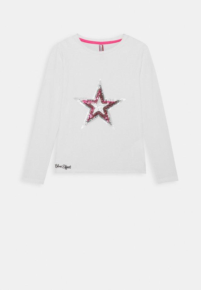 GIRLS LONGSLEEVE PAILLETTEN STERN - T-shirt à manches longues - creme reactive