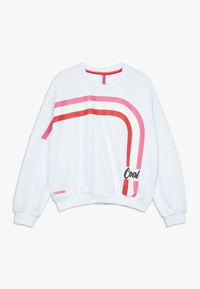 GIRLS BOXY COOL - Sweatshirt - schneeweiss reactive