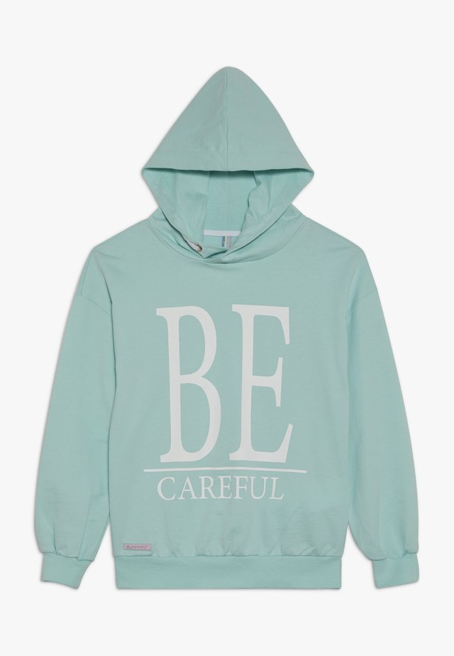 GIRLS HOODIE BE CAREFUL - Kapuzenpullover - minze reactive