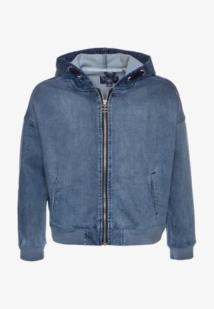 GIRLS HOODIE - Denim jacket - medium blue